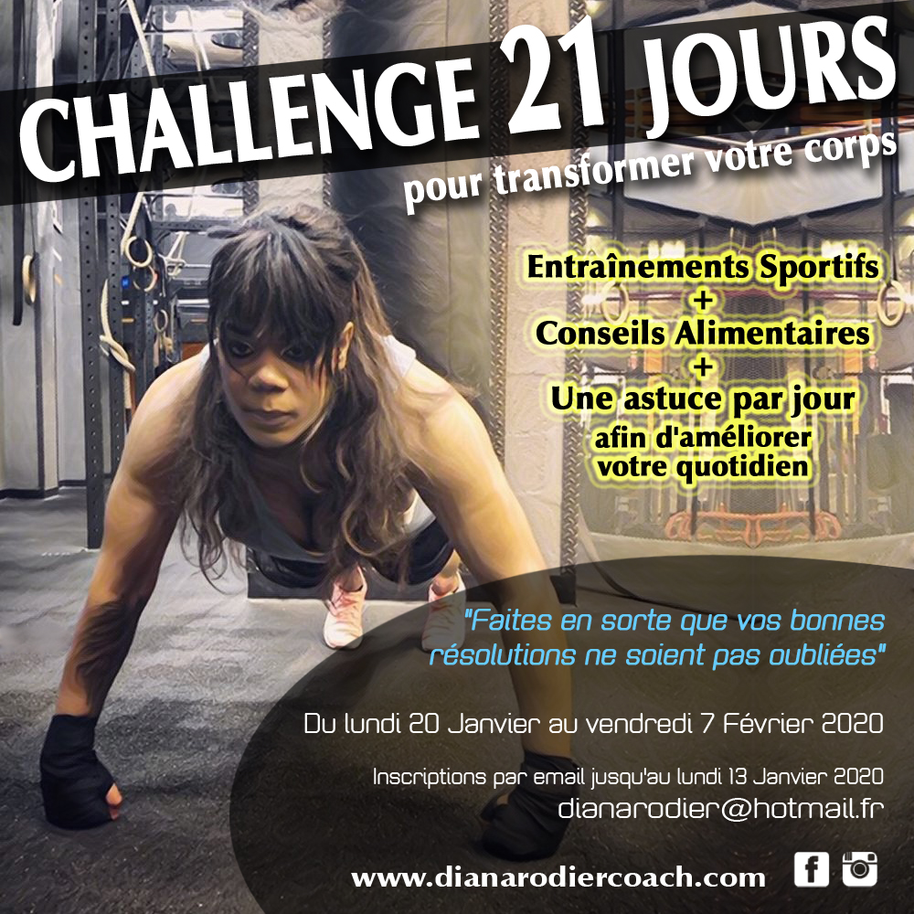 Challenge 21 jours Diana Rodier